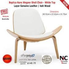 replica hans wegner shell chair white