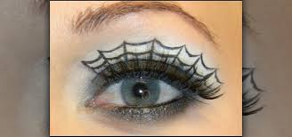 spiderweb eye makeup look