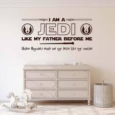 Star Wars Jedi Wall Decal Sticker I Am A Jedi Unless Hogwarts Sends Me My Letter Quote Room Wall Sticker 8139q Leather Bag