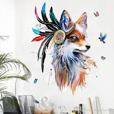 Creative Wolf Head Wall Decals Bedroom Unique Decor Wall Mural Poster Art Living Room Self Adhesive Wallpaper Hanging Graphic Decoration Dinosaur Wall Decals Dinosaur Wall Stickers From Magicforwall 12 05 Dhgate Com