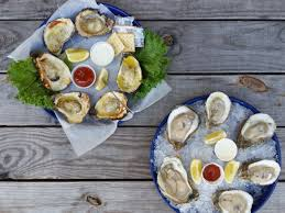 Raw oysters ...