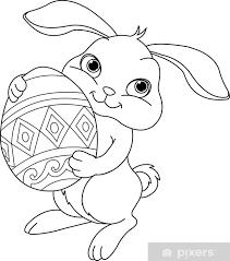 Fotobehang Easter Bunny Kleurplaat Pixers We Leven Om Te