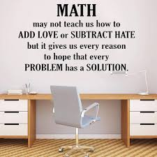 Math Wall Decals Quotes Teen Study Room Home Decor Mathematics Classroom Vinyl Self Adhesive Wall Sticker For Windows Y404 Wall Stickers Aliexpress