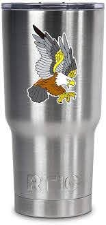 Amazon Com Mighty Eagle Tattoo Style 3 5 Inch Color Vinyl Decal For Stainless Steel Tumblers Tumbler Not Included Everything Else