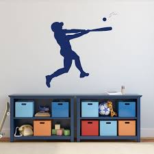 Amazon Com Baseball Player Wall Decal Batting Boys Room Vinyl Wall Decor Handmade