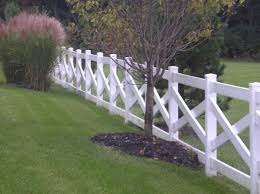 2 Board X White Wood Fence Fence Styles Fence Landscaping