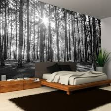 woodland forest mural