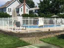Reliable Fence Ct White Aluminum Pool Fence In West Haven Ct