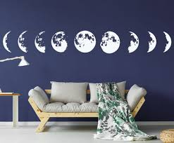 Moon Phase Wall Decal Stars Constellation Wall Decal Sky Wall Etsy