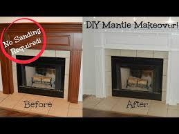 diy mantle makeover no sanding