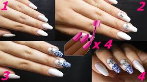 White Elegance Manicure X4 Bialy Manicure Mat Blysk Stamping