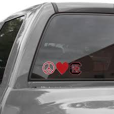 South Carolina Gamecocks Peace Love Car Decal