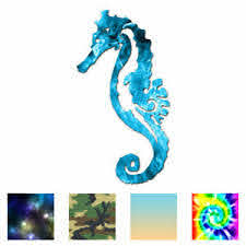Seahorse Sea Horse Vinyl Decal Sticker Multiple Patterns Sizes Ebn3708 Ebay