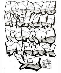 draw graffiti letters a z step by step