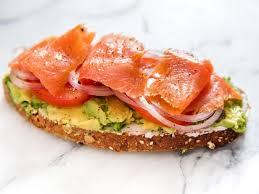 avocado and salmon toast nutrition
