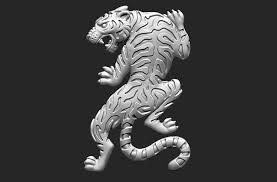 3D printable model Climbing Tiger ...