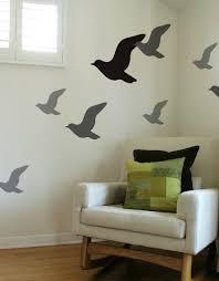 Flying Bird Wall Decals Bird Silhouette Wall Stickers Blik