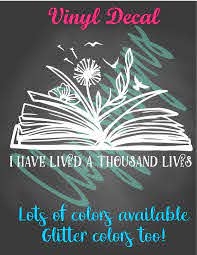 Book Lover Decal Librarian Gift Reading Decal Book Worm Car Etsy Gifts For Librarians Teacher Stickers Book Worms