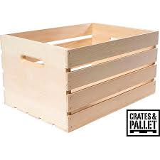 Crates And Pallet Wood Crate Large Walmart Com Walmart Com