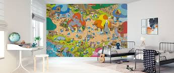 The Smurfs Village Made To Measure Wall Mural Photowall