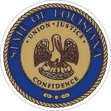 Louisiana State Seal Vinyl Sticker At Sticker Shoppe