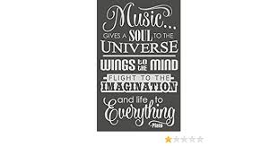 23x14 Inch Warm Gray Wall Decor Plus More Wdpm3362 Music Gives Life To Everything Wall Decal Sticker Quote Lettering Art Wall Stickers Murals
