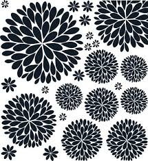 The Original Dahlia Flower Vinyl Wall Decal Flower Decal