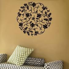 Circular Flowers Wall Vinyl Decal