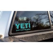 Yeti Window Decal Ricks Saddle Shop