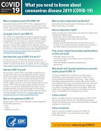 Centers For Disease Control Fact Sheet ...