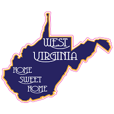 West Virginia Home Sweet Home State Sticker U S Custom Stickers