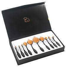 wovte makeup brushes 10 piece oval