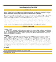 printable home inspection checklists