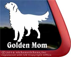 Golden Mom Golden Retriever Decals Stickers Nickerstickers