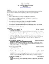 current resume 2015