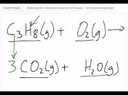 equation for combustion of propane