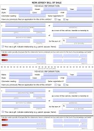 motor vehicle dmv bill of form