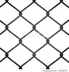 Chain Link Fence Vector Stock Illustration 9918704 Pixta