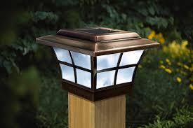 Copper Plated Prestige Solar Post Cap 10 Lumens 12 Hour Lighting