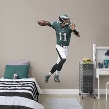 Boys Football Room Basement Carson Wentz 11 Philadelphia Eagles Nfl Wall Decals At Fathead Com Sports Room Boys Boys Football Room Boys Football Bedroom