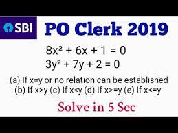 quadratic equation tricks for ibps sbi
