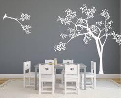 Corner Tree Wall Decals For Nursery Monkey Design Amazon White Baby Girl Vinyl Vamosrayos