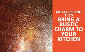 metal ceiling tiles bring a rustic