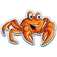 Funny Crab 3 Vinyl Sticker For Car Laptop I Pad Phone Helmet Hard Hat Waterproof Decal Walmart Com Walmart Com