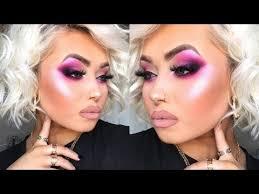 pink metallic smokey eye makeup