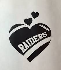 Oakland Raiders Football Heart Vinyl Car Decal Bumper Etsy In 2020 Raiders Football Oakland Raiders Football Oakland Raiders