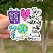X Ray Tech Sticker Radiologic Technologist Laptop Sticker Sticker Collector Vinyl Car Decal Chrisitan Sticker Bumper Sticker1327644 Jp In 2020 Xray Tech Radiology Technologist Tech Tattoo
