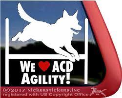 Australian Cattle Dog Window Decal Nickerstickers
