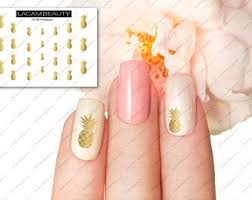 Pineapple Nail Decal Etsy