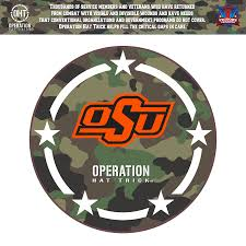Oklahoma State Cowboys 24 X 24 Operation Hat Trick Coin Die Cut Vinyl Decal